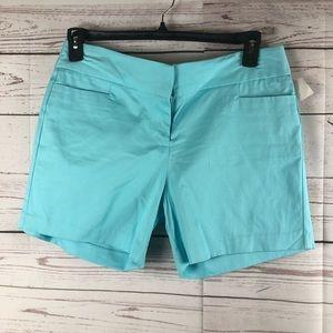 Women's Chinos dress shorts blue mint new